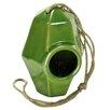 Perch Ceramic 8 inch x 5.5 inch x 5.5 inch Birdhouse - Color: Green - HomArt Birdhouses