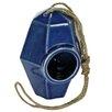 Perch Ceramic 8 inch x 5.5 inch x 5.5 inch Birdhouse - Color: Blue - HomArt Birdhouses