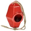 Perch Ceramic 8 inch x 5.5 inch x 5.5 inch Birdhouse - Color: Coral - HomArt Birdhouses