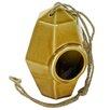 Perch Ceramic 8 inch x 5.5 inch x 5.5 inch Birdhouse - Color: Amber - HomArt Birdhouses