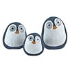 Wilcoxen Solar Birds 3 Piece Statue with Light Up Eyes - Color: Dark Blue - Breakwater Bay Garden Statues and Outdoor Accents