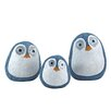 Wilcoxen Solar Birds 3 Piece Statue with Light Up Eyes - Color: Light Blue - Breakwater Bay Garden Statues and Outdoor Accents