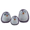 Wilcoxen Solar Birds 3 Piece Statue with Light Up Eyes - Color: Purple - Breakwater Bay Garden Statues and Outdoor Accents