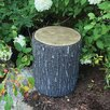 Westman Faux Oak Stump Cover Statue - Millwood Pines Garden Statues and Outdoor Accents