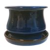 Newell Low Bell Glazed Ceramic Pot Planter - Color: Blue - World Menagerie Planters