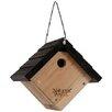 Natures Way Cedar Hanging 8 inch x 9 inch x 8 inch Wren House - Desert Steel Birdhouses