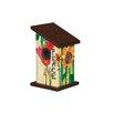 Peace Everywhere 9 inch x 5 inch x 5 inch Wren House - Studio M Birdhouses