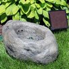 Resin Solar Stone Pond Outdoor Water Fountain with LED Light - SunnyDaze Decor Indoor and Outdoor Fountains