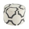 Signature Design by Ashley Traditional Geometric Pouf Ottoman