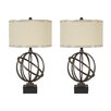 "Signature Design by Ashley Shadell 28.5"" H Table Lamp with Drum Shade (Set of 2)"