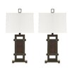 """Signature Design by Ashley Sesen 30.6"""" H Table Lamp with Rectangular Shade (Set of 2)"""