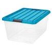 IRIS USA, Inc. 44 Quart Buckle Down Storage Box