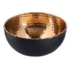 Endon Lighting 18.5cm Bowl in Black Hammered