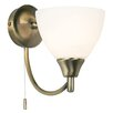 Endon Lighting Alton 1 Light Semi-Flush Wall Light