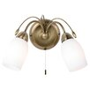 Endon Lighting 2 Light Semi-Flush Wall Light
