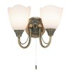 Endon Lighting Chloe 2 Light Semi Flush Wall Light
