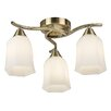 Endon Lighting Alonso 3 Light Semi-Flush Ceiling Light