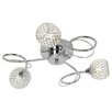 Endon Lighting Aherne 3 Light Semi-Flush Ceiling Light