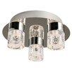 Endon Lighting Imperial 3 Light Semi-Flush Ceiling Light