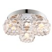 Endon Lighting Lawcross 3 Light Flush Ceiling Light