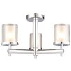 Endon Lighting Britton 3 Light Semi-Flush Ceiling Light
