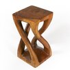 Strata Furniture Thai Hand Carved Vine Twist End Table