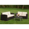 Strata Furniture 3 Piece Deep Seating Group (Set of 3)
