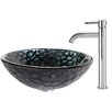 Kraus Kratos Glass Vessel Sink with Ramus Faucet