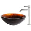 Kraus Prometheus Glass Vessel Sink with Ramus Faucet