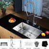 """Kraus 30"""" x 16"""" Undermount Single Bowl Kitchen Sink with Faucet and Soap Dispenser"""