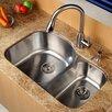"""Kraus 31.5"""" x 20.5""""  8 Piece Undermount Double Bowl Kitchen Sink Set"""