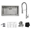 """Kraus 30"""" x 18"""" Undermount Kitchen Sink with Faucet and Soap Dispenser II"""