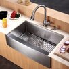 "Kraus 29"" x 20"" Farmhouse Kitchen Sink"
