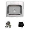 """Kraus 25"""" x 22.4"""" Topmount Single Bowl 18 Gauge Kitchen Sink"""