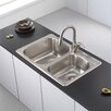 "Kraus 33"" x 22"" Topmount 60/40 Double Bowl Kitchen Sink"
