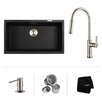 "Kraus 31"" x 17.09"" Undermount Single Bowl Kitchen Sink with Faucet"