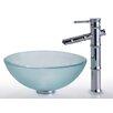 Kraus Clear Glass Vessel Bathroom Sink