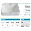 Kraus Elavo™ Ceramic Square Semi-Recessed Bathroom Sink with Overflow