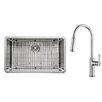 "Kraus 30"" x 18"" Undermount Single Bowl Kitchen Sink with Faucet"
