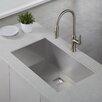 """Kraus Pax Zero-Radius 31.5"""" x 18.5"""" 16 Gauge Handmade Undermount Single Bowl Stainless Steel Kitchen Sink"""