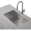 "Kraus Pax™ Zero-Radius 31.5"" x 18.5"" 16 Gauge Handmade Undermount Single Bowl Stainless Steel Kitchen Sink"