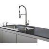 """Kraus 32.75"""" x 19"""" 6 Piece Undermount Double Bowl Kitchen Sink"""