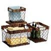 Woodard & Charles Carribbean Accents 3 Piece Shelf Basket Set