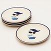 """Woodard & Charles Meet the Ladies 8"""" Dessert Plate (Set of 4)"""