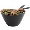 Woodard & Charles Onyx Acacia 3 Piece Salad Bowl and Server Set
