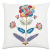 Eastern Accents Folkloric Whimsical Flower Throw Pillow