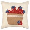 Eastern Accents Americana Berry Basket Throw Pillow