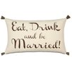 Eastern Accents Wedding More Than Words Lumbar Pillow