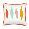 Eastern Accents Wedding 4 Feathers Throw Pillow