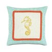 Eastern Accents Tropical Sunny Seahorse Throw Pillow